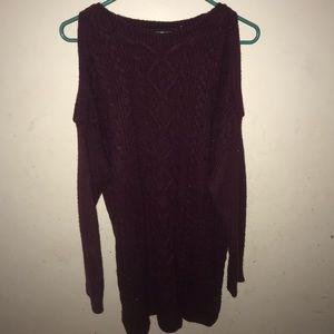 Express long cable knit sweater size medium